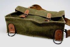 画像4: Vintage 1950's French Military Canvas and Leather ショルダーバッグ/フランス 【未使用】 (4)