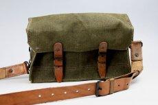 画像2: Vintage 1950's French Military Canvas and Leather ショルダーバッグ/フランス 【未使用】 (2)