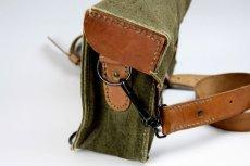 画像5: Vintage 1950's French Military Canvas and Leather ショルダーバッグ/フランス 【未使用】 (5)