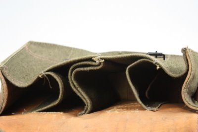 画像2: Vintage 1950's French Military Canvas and Leather ショルダーバッグ/フランス 【未使用】