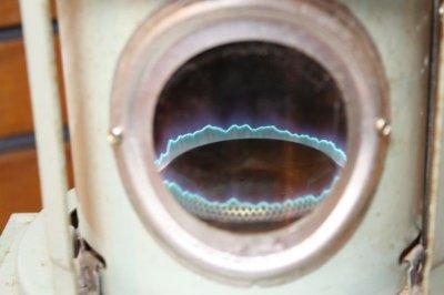 画像1: Aladdin Pod 8K 石油ストーブ ブルーフレーム 窓用 マイカ100枚 (雲母)送料無料
