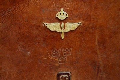 画像1: Vintage Military Leather Bagスウェーデン空軍  ショルダーバッグ/Sweden