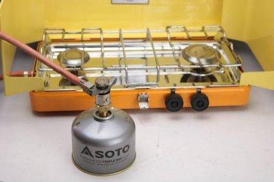 画像1: ガス アダプター ツーバーナー OD缶変換 シングル ジョイント 2個