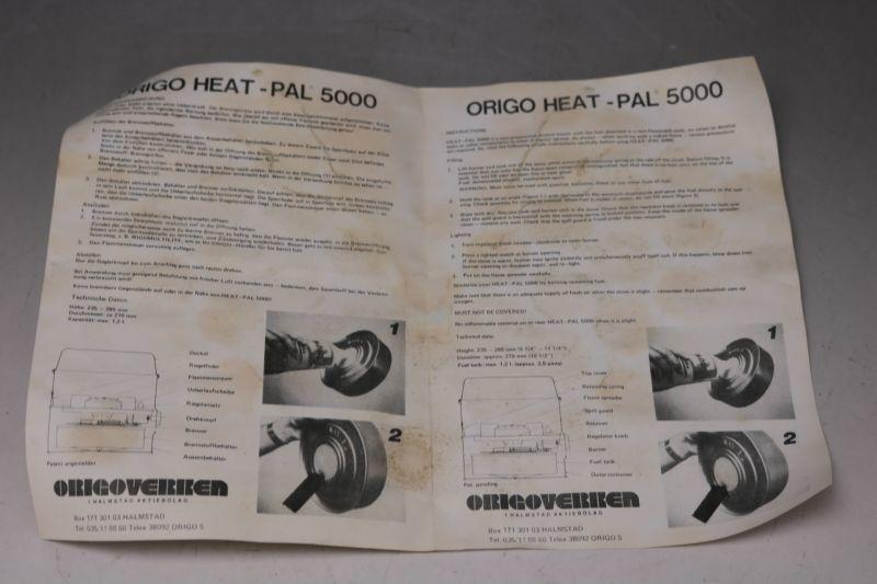 Origo Heat-Pal オリゴ ヒートパル5000 未使用 /Sweden