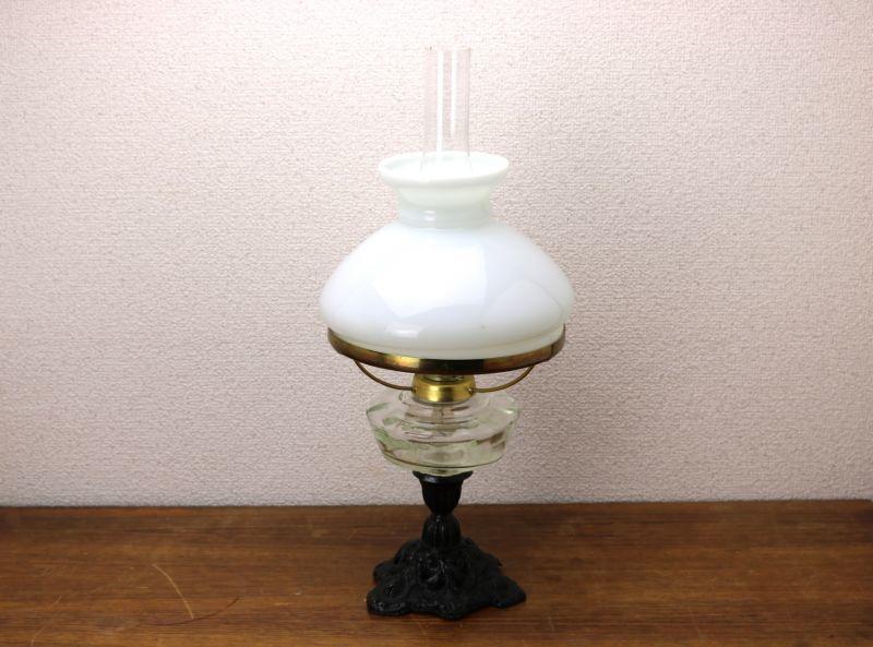 画像1: Antique oil lamp Sweden/スウェーデン アンティーク ランプ (1)